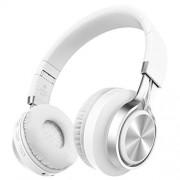 Alihen BT-06 Swift Auriculares Estéreo Inalámbricos con Bluetooth 4.0, Micrófono y Control de Volumen + Cable de Audio. Compatible con la mayoría de Teléfonos / iPhone / Samsung / PC / Tv / Laptop (Blanco)
