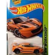 2014 Hot Wheels Hw Workshop Kmart Exclusive - Lotus Evora GT4 - Orange