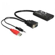 DELOCK Adaptador VGA a HDMI con audio