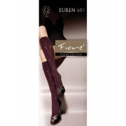 Fiore - 3-D patterned knee highs Euren 60 denier