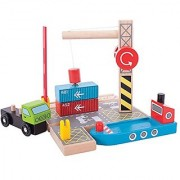 Bigjigs Rail Container Shipping Yard for Train Set