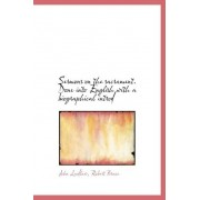 Sermons on the Sacrament. Done Into English with a Biographical Introd by Sr John Laidlaw