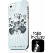 Skin IT Skins Silicon Phantom Apple iPhone SE 5S Rock Skull Folie Inclusa