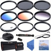K&F Concept 52mm Lens Filter Kit Slim UV Slim CPL Circular Polarizing Macro Close up +4 +10 Slim Graduated Color Orange Blue Grey Point Star 6 Filters For Nikon D3200 D5100 D3100 D5200 D3300 D5300 DSLR Camera with 18-55mm 200-400mm Lenses + Cleaning Pen +