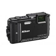 "Nikon Coolpix AW130 Fotocamera Digitale Compatta, 16 Megapixel, Zoom 5X, 6400 ISO, OLED 3"", Full HD, Subacquea, Antiurto, Antigelo, GPS, Wi-Fi NFC, Nero [Nital Card: 4 Anni di Garanzia]"