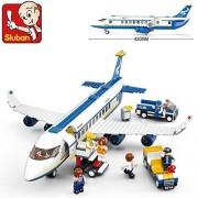Sluban Building Block Plane City Airport Cargo Terminal B0366 463Pcs 7Dolls Compatible With Lego