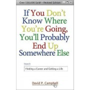 If You Dont Know Where You're Going, You'll Probably End Up Somewhere Else by David P Campbell
