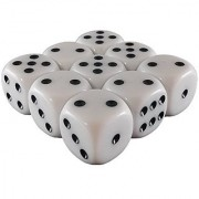 Magneticcube 3X3X1 Dice Puzzle: White Opaque W/ Black Pips