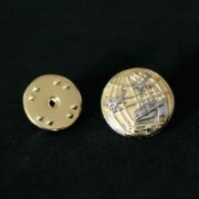 Bottom Brooch Gold Plated Tourism