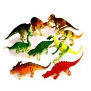 Dazzling Toys Large Assorted Dinosaurs 4-5 Larger Size Dinosaur Figures - Pack Of 12