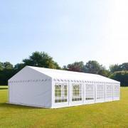 Intent24 5x12m tente de réception, PVC, H. 2m, blanc