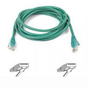 Belkin Cable patch CAT5 RJ45 snagless 1m green 1m Green networking cable