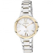 Citizen Silver Stainless Steel Round Dial Analog Watch For Women (EP5994-59A)