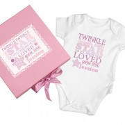 Twinkle Girls Pink Gift Set - Baby Vest