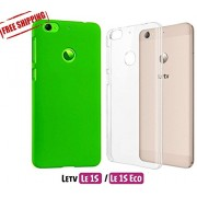 For LeEco Le 1S Eco [COMBO OFFER]: Unistuff™ Matte Finish Hard Case Back Cover for LeTv Le 1S, LeEco Le 1S Eco [SLIM FIT][FREE SHIPPING] (Green, Transparent)