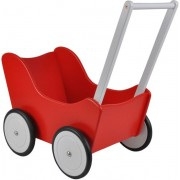 Houten poppenwagen Little Angel red