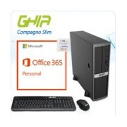 GHIA COMPAGNOSLIM/INTEL PENTIUM G4400 DUAL CORE 3.30 GHZ/4 GB/SSD 32 GB/1TB ONEDRIVE UN AÑO/SFF-N/WI