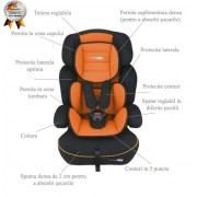 Scaun auto FreeMove Orange