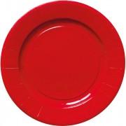 Set 8 farfurii rosii Craciun 18 cm