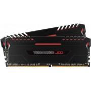Kit Memorie Corsair Vengeance 2x8GB DDR4 2666MHz CL16 Red LED