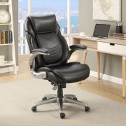 True Wellness Active Lumbar Managers Executive Chair In Black Bonded L