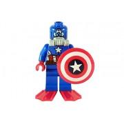 LEGO MINIFIGURE - SCUBA CAPTAIN AMERICA - SET 76048 - SH215