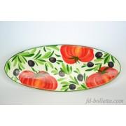 Piatto ceramica ovale oc6