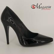 Pantofi Stiletto Piele Naturala - Culoare Negru - Jupiter 46NL