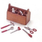 Dollhouse Miniature Tool Box with Tools