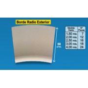 Radio borde piscina Crema y Granallado 50 cm exterior