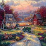 Jigsaw Puzzle Square 1000 Pieces 25 X25 -Farm Country-Afternoon Harvest