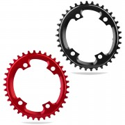 AbsoluteBLACK CX 110BCD 4 Bolt Shimano Spider Mount Oval Chain Ring - 38T - Red
