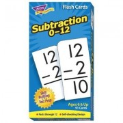 """Trend Enterprises Products - Math Flash Cards, Subtraction, 0 To 12, 3""""x5-7/8"""" - Sold as 1 EA - Math flash cards have proven effective for building basic skills and reinforcing learning. Offers self-checking design and sturdy storage box. Colorful, durabl"""