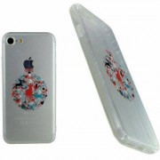 Apple Housse Silicone Ultra Slim Transparente Motif Noël Rêne Chic pour Apple iPhone 7