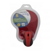 Mouse Esperanza Optical EM125R Red cu Mousepad