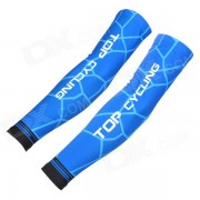 TOPCYCLING Four Seasons Outdoor Cycling Polyester + Spandex Arm Sleeves - Blue (XXL / Pair)