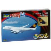 Revell 06641 - Boeing 747-400 Lufthansa Kit di Modello in Plastica, Easykit, Scala 1:288