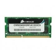 Corsair - CMSO4GX3M1A1333C9 - 4096 MB - SODIMM - DDR3 - 1333 MHz - 1.5 V - CL9 - Nou