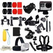 Correa para el pecho Monopod de montaje en la cabeza Accesorios Kit Estuche para GoPro - Negro