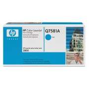 Q7581A Brand New Genuine Retail Original OEM ( FREE GROUND SHIPPING ! ) HEWLETT PACKARD - LASER JET TONERS CYAN TONER CARTRIDGE FOR COLOR