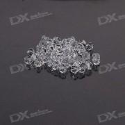 Austria Ornamental DIY Crystal Beads Translucent (50-Pack)