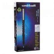Roller Ball Stick Dye-Based Pen, Blue Ink, Micro, Dozen