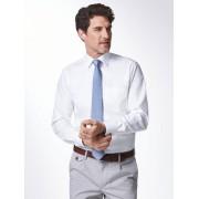 Walbusch Extraglatt-Strukturhemd Slim Fit Weiß 44