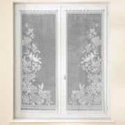 Blancheporte Vitrage droit Colombes - paire blanc Vitrage : largeur 60 x hauteur 160cm