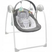 Badabulle Balancelle bébé gris et blanc confort