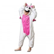 Combinaison Grenouillère Pyjama Enfant Peluche Douce Et Chaude - Modèles Licorne Panda Bourriquet Girafe Totoro Salamèche Et Autres - Taille 105 À 125cm - Black Sugar Déguisement Cosplay Mardi Gras