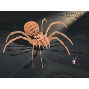 Puzzled Black Widow Spider 3D Natural Wood Puzzle (27 Piece)