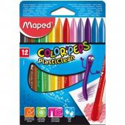 Creioane colorate cerate Maped PlastiClean 18 culori / set M862011