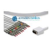 CABO PARA ELETROCARDIÓGRAFO 10 VIAS COMPATÍVEL NIHON KOHDEN® / Registro Anvisa 80787710009 - NQA-EL039