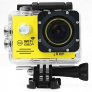 Camera video sport IMK- SJ7000 1080p, Full HD, Wi-Fi, HDMI, waterproof 30m, 2-inch, Galben